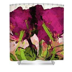 Rose Romantica Magenta Green Shower Curtain