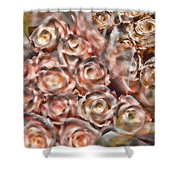 Rose Sparkle Shower Curtain by JAMART Photography