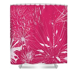 Shower Curtain featuring the digital art Rose Splash by Methune Hively