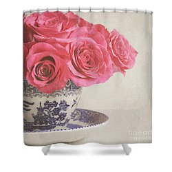 Shower Curtain featuring the photograph Rose Tea by Lyn Randle