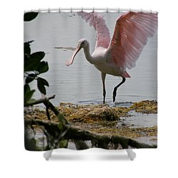 Roseate Wave Shower Curtain