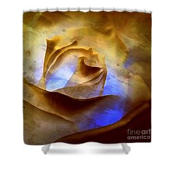 Shower Curtain featuring the photograph Rosebud - Till We Meet Again by Janine Riley