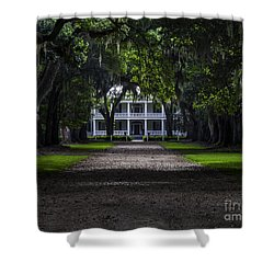 Rosedown Plantation Main House Shower Curtain by Ken Frischkorn