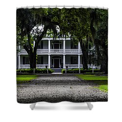 Rosedown Plantation Main House Two Shower Curtain by Ken Frischkorn