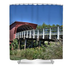 Shower Curtain featuring the photograph Roseman Bridge No. 5 by Janice Adomeit