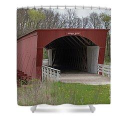 Roseman Covered Bridge - Madison County - Iowa Shower Curtain