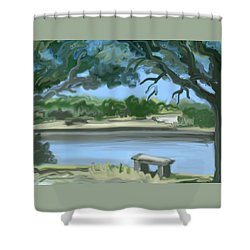 Rosemary Lake Shower Curtain