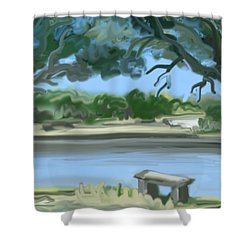 Rosemary Lake Shower Curtain by Jean Pacheco Ravinski