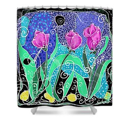 Roses And Lemons Shower Curtain