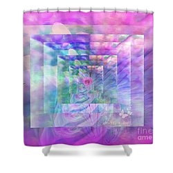 Roses Are Red Violets Are Blue These Roses Are Just For You Shower Curtain by Sherri's Of Palm Springs