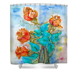 Roses Buds Shower Curtain