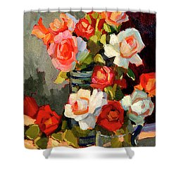 Roses From My Garden Shower Curtain by Diane McClary