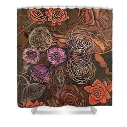 Roses In Time Shower Curtain