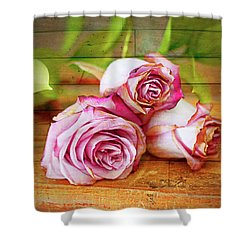 Roses Three Shower Curtain