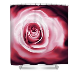 Rose's Whispers Magenta  Shower Curtain by Jennie Marie Schell