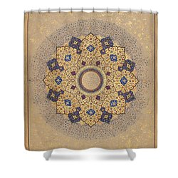 Rosette Bearing The Names And Titles Of Shah Jahan Shower Curtain