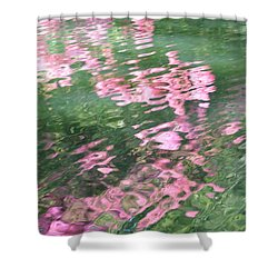 Rosey Ripples Shower Curtain