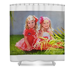 Rosie And Jaz Shower Curtain