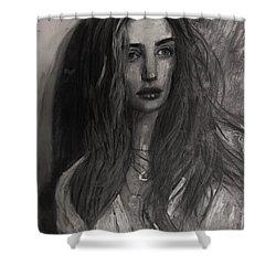Rosie Huntington-whiteley Shower Curtain