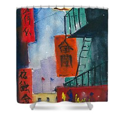 Ross Alley, Chinatown Shower Curtain by Tom Simmons