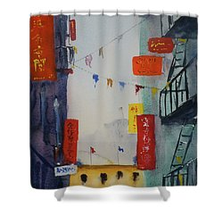 Ross Alley1 Shower Curtain by Tom Simmons