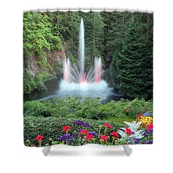 Ross Fountain Shower Curtain by Betty Buller Whitehead