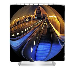 Rosslyn Metro Station Shower Curtain by John S
