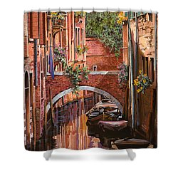 Rosso Veneziano Shower Curtain by Guido Borelli