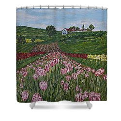 Walking In Paradise Shower Curtain by Felicia Tica