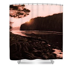 Rosy Glow Of Morning Shower Curtain