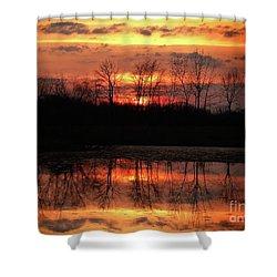 Rosy Mist Sunrise Shower Curtain