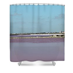 Rosy Red Salt Lakes Shower Curtain