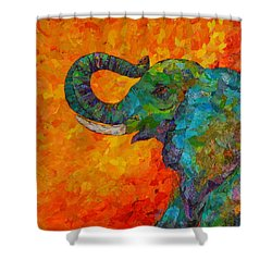 Rosy The Elephant Shower Curtain