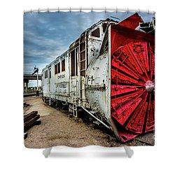 Rotary Snow Plow Vintage Train - Utah Shower Curtain by Gary Whitton