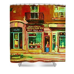Rothchilds Jewellers On Park Avenue Shower Curtain by Carole Spandau