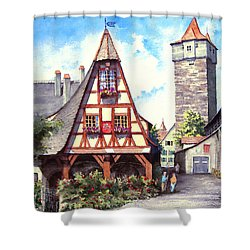 Rothenburg Memories Shower Curtain