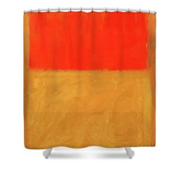 Rothko's Orange And Tan Shower Curtain