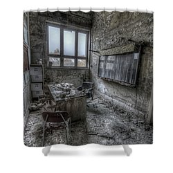 Shower Curtain featuring the digital art Rotten Office by Nathan Wright