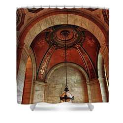 Shower Curtain featuring the photograph Rotunda Ceiling by Jessica Jenney