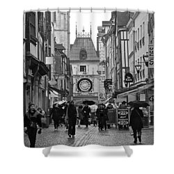 Rouen Street Shower Curtain by Eric Tressler