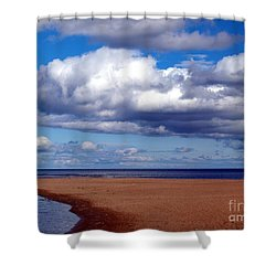 Rouge Beach Shower Curtain by Susan  Dimitrakopoulos