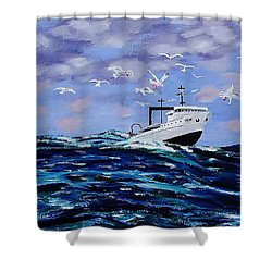 Rough Day For Fishing Shower Curtain