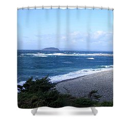 Rough Day On The Point Shower Curtain by Barbara Griffin