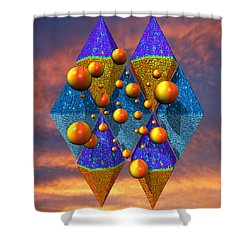 Rough Diamonds Shower Curtain by Mark W Ballard
