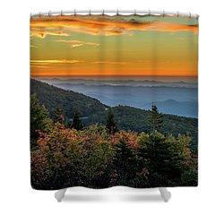 Rough Morning - Blue Ridge Parkway Sunrise Shower Curtain