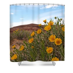 Rough Mulesear Flowers Shower Curtain