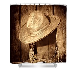 Rough Rider Shower Curtain by American West Legend By Olivier Le Queinec