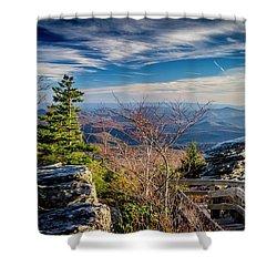 Rough Ridge View Shower Curtain