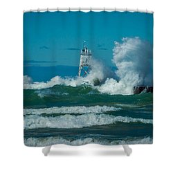 Rough Seas  Shower Curtain