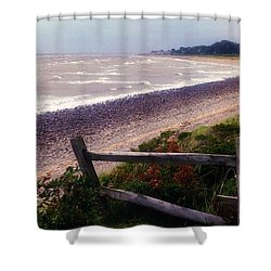 Rough Storm Shower Curtain